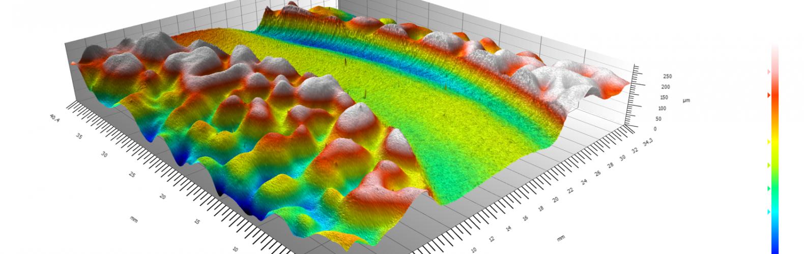 Vue en 3D de la surface3