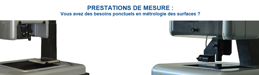 Prestations de mesure